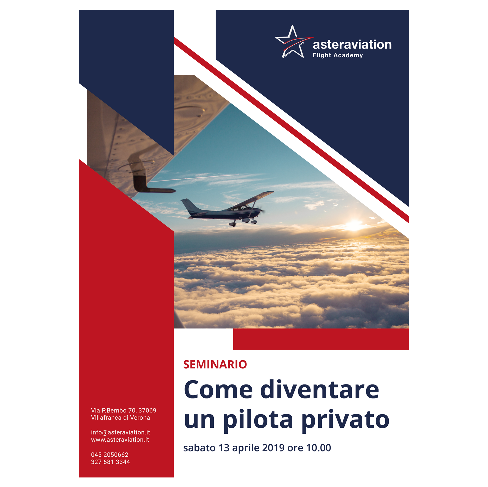 Seminario su come acquisire la licenza di pilota privato in aprile 2019