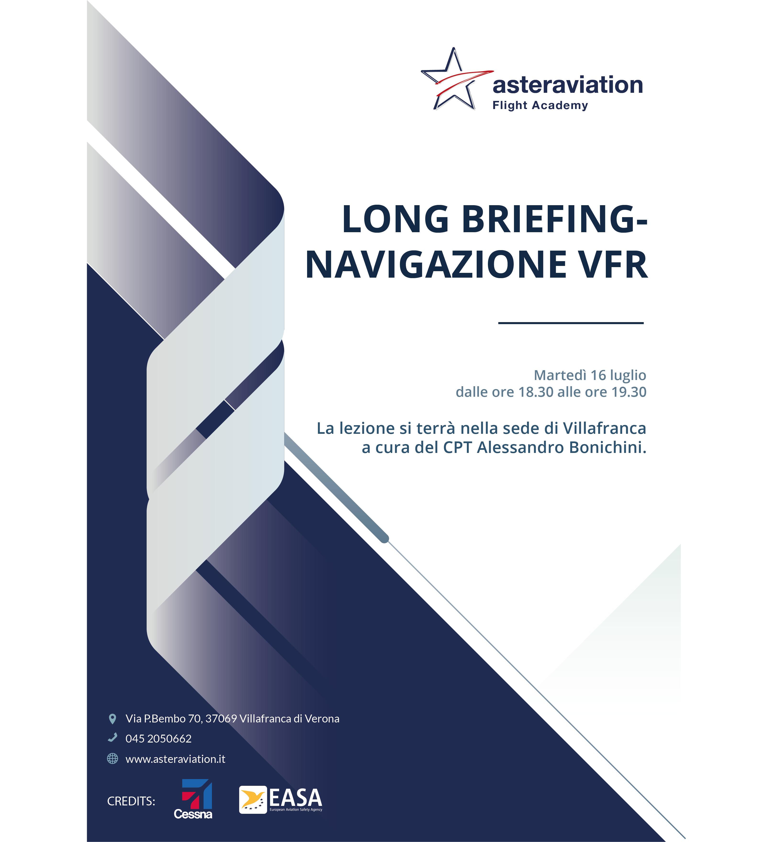 Lezione di long briefing e navigazione presso Asteraviation