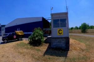 La torre di controllo che gestisce le comunicazioni radio di Boscomantico