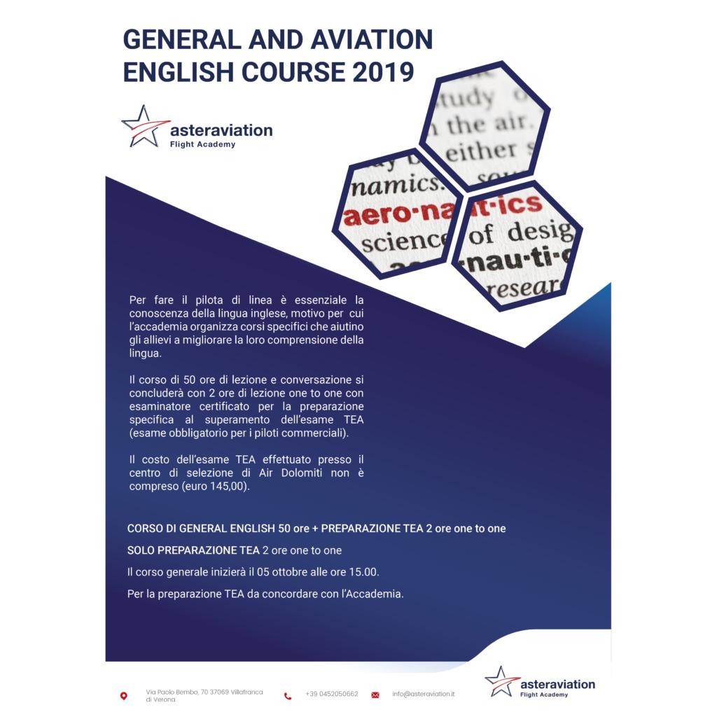 Aperte le selezioni per il corso di general and conversation English in aviazione