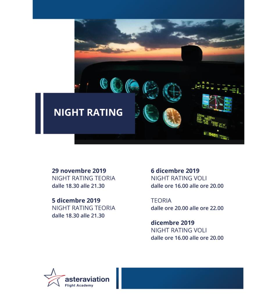 Abilitazione al volo notturno Asteraviation